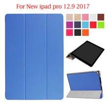 Para el Nuevo ipad Pro 12.9 2017 Caso de Cuero de LA PU Cubierta Protectora Del Soporte piel Para 2017 iPad de Apple Pro 12.9 pulgadas Tableta Delgada Fundas Caso