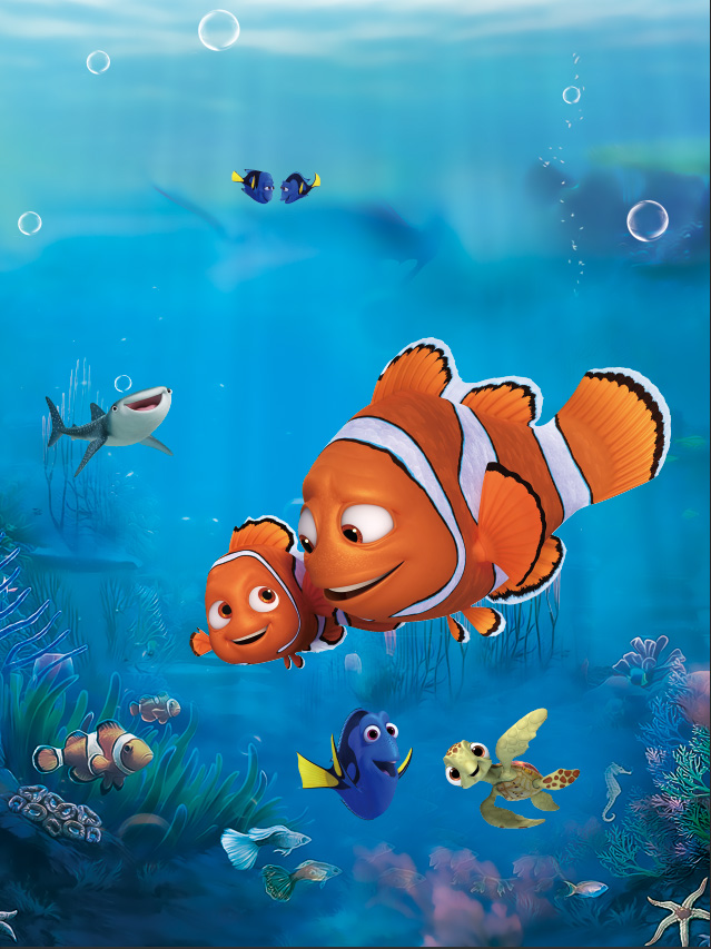 5x7ft finding nemo dory marlin blue sea fish corals custom for Immagini dory