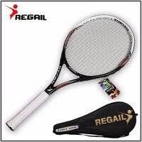 Супер качество 1 шт. углеродное волокно теннисные ракетки оснащен бесплатная сумка для матча игры Обучение