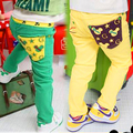 2016 Autumn Spring Baby Boy Children Cartoon Star Patchwork Long Green Pants