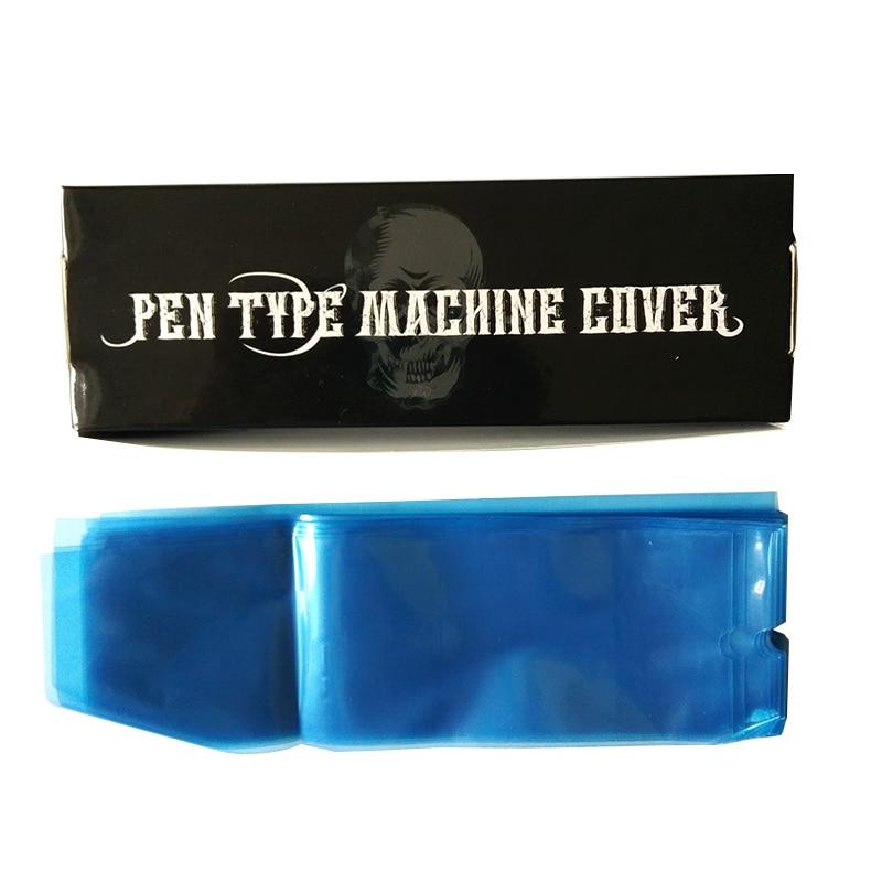 Μόνιμη μακιγιάζ 200Pcs / Box Μίας χρήσης φρύδι Lip Περιστροφική τατουάζ μηχανή τύπου πένας καλύπτει τσάντα μπλε χρώμα για την προσφορά τατουάζ
