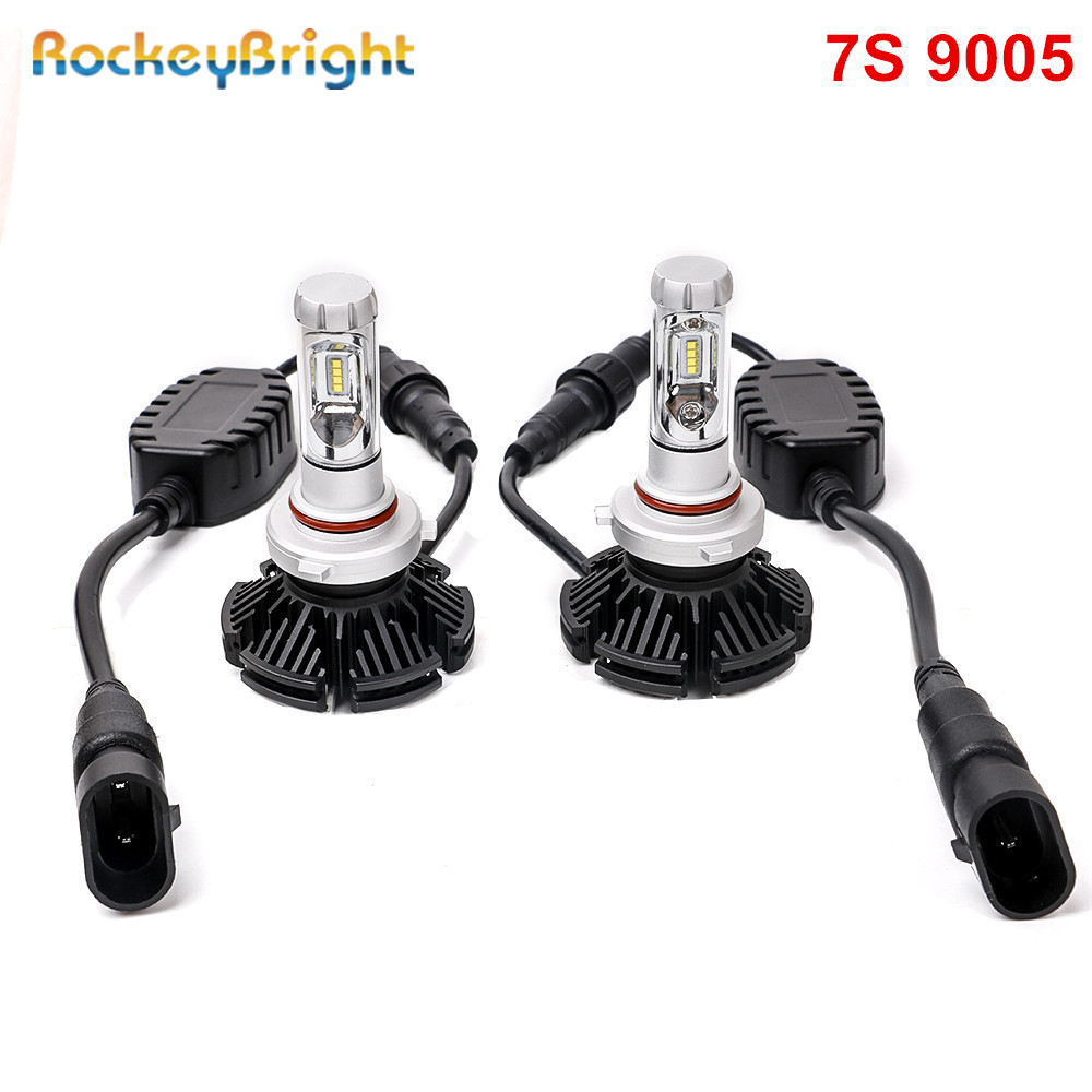 Rockeybright 12000LM H7 LED headlight Car 50W H8 H9 H11 9005 H10 9006 LED Headlight Bulbs ZES Automobile LED Headlamp Fog Light h11 car lights led 6500k 6000lm zes headlight bulbs lamp for h11 h8 h9 auto headlamp bulbs lamps car light accessories styling
