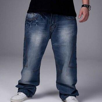 Новинка 2018, брендовые джинсы, 100% хлопок, джинсы больших размеров для мужчин, Лучшая цена, оптовая продажа, большие размеры 30-46