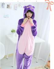 New Arrival Hot Cat Costumes Onesies Lovely Purple Cat Cosplay Suit Ladies Cartoon Flannel Pajamas Halloween Carnival For Sale(China)