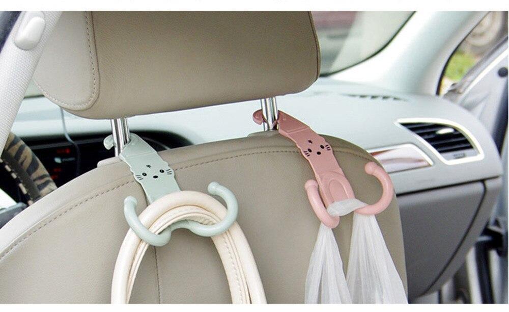 CUSHAWFAMILY 1 шт. милый кот бесплатно гвоздь автомобиль подвесной крюк шкаф одежда вешалки для ключей крючки для мелочей сумка получает torage держатель