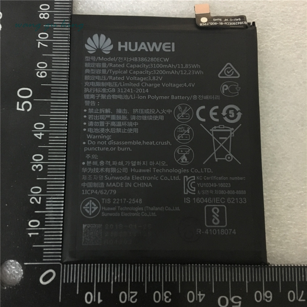Modest New Original Hb386280ecw 3200mah Rechargeable Li-ion Phone Battery For Huawei Honor 9 P10 Ascend P10 Smart Mobile Phone Cool In Summer And Warm In Winter Cellphones & Telecommunications Mobile Phone Batteries
