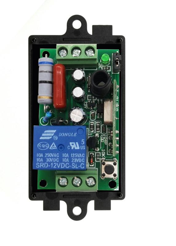 RF Wireless 220 V Fernbedienung Wechseln 1CH 10A Receiver 315//433 MHZ diy teil lernen code