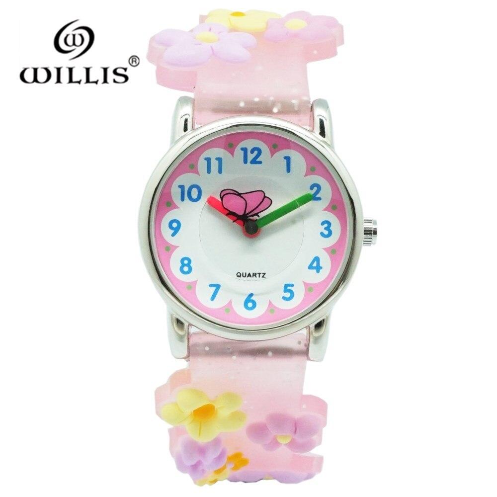 WILLIS 30M Waterproof Children Watch Casual Transparent Watches Kids Student Girls Wrist Watches Clock Relogio Montre Enfant