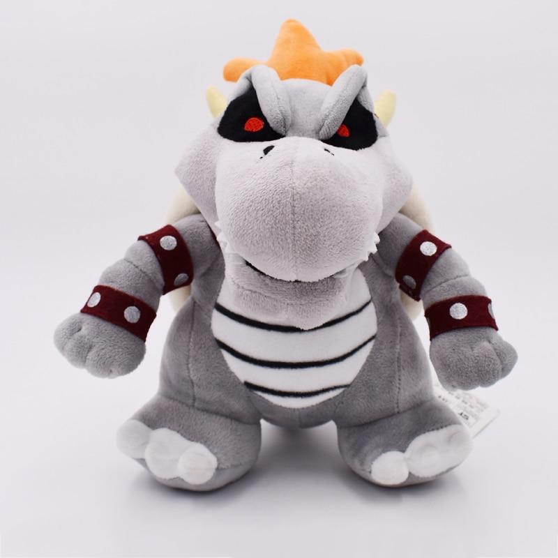 24cm Super Mario 3D Land Bone Kubah Dragon Plush Toy Bolster Plush Soft Stuffed Dolls Dry Bones Bowser Koopa Free Shipping
