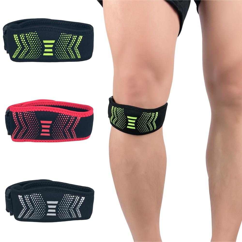 Sports Patella Knee Protector Brace Strap Band Support Basketball Adjustable LFSPR0075