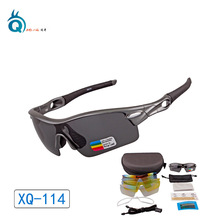 купить XunQi Brand Polarized Sports Men Sunglasses Road Cycling Glasses Mountain Bike Bicycle Riding Protection Goggles Eyewear 5 Lens дешево
