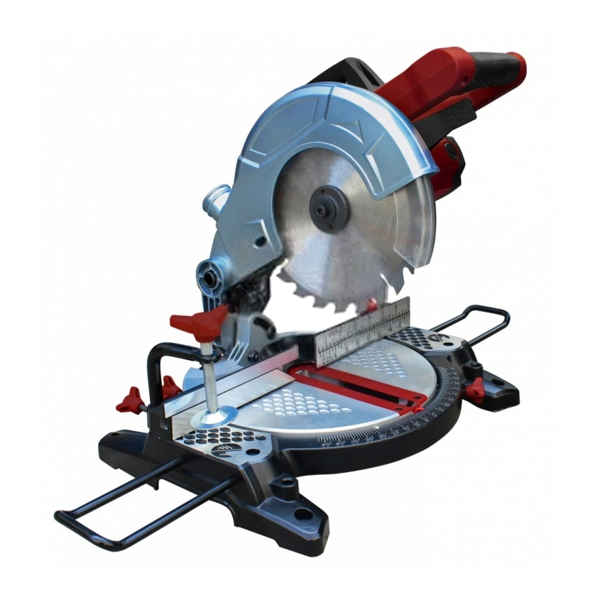 Miter saw table Redverg RD-MS210-1300S (Power 1500 W speed 4500об/min, protective cover) miter saw table redverg rd msu255 1200 power 1800 w no load speed 4500 rpm tilt 45 °