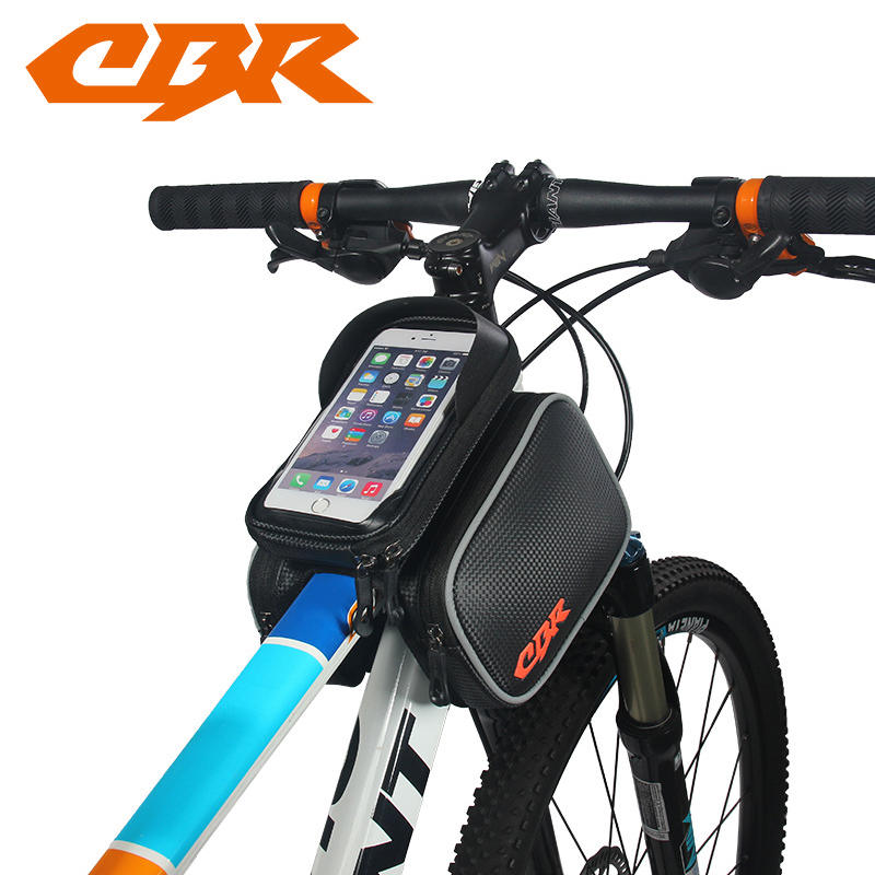 Waterproof Cycling Bike Bicycle Front Top Tube Frame Pannier Double Bag Pouch