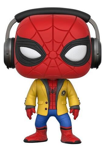 Avengers Spiderman 265 with Headset Spider Man Homecoming 10cm Spider-Man Figure Collection Vinyl Doll Model Toys
