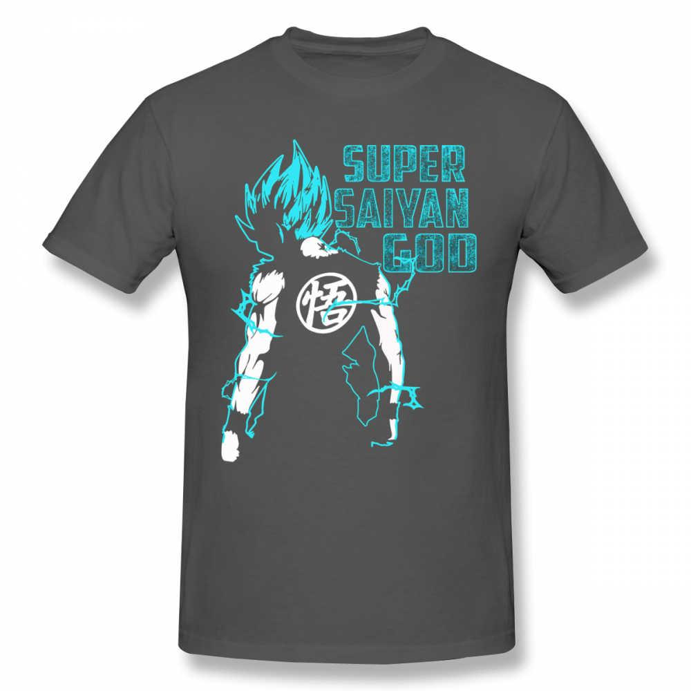 Goku футболка Goku Super Saiyan синяя 16 Футболка с принтом забавная футболка 100 хлопок с короткими рукавами Мужская классическая большая футболка