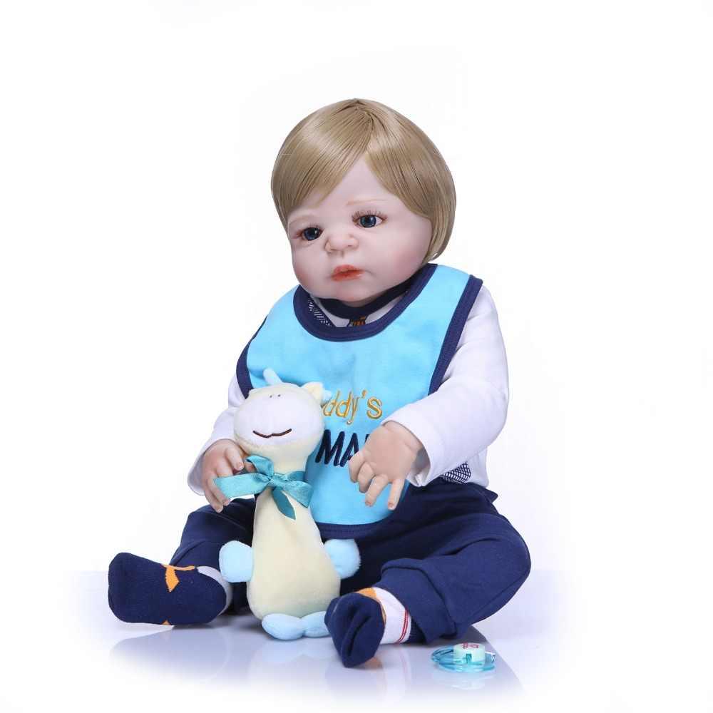 Кукла новорожденная NPK, полностью силиконовая, Реалистичная, 57 см