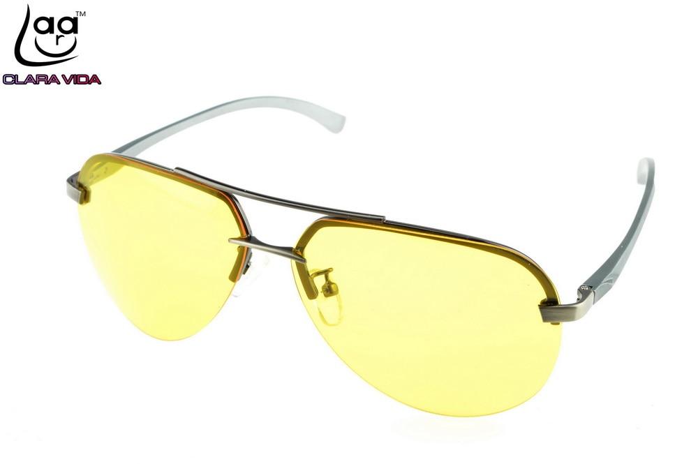 CLARA VIDA Alloy Strengthen lens Day night polarized sunglasses polaroid polarised golf fishing driving UV 400 men sun glasses