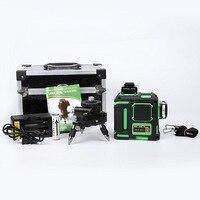 12 линий зеленый лазерный уровень 3D Мощный лазерный луч горизонтальный и вертикальный крест лазер 12 линий автоматический самонивелирующий