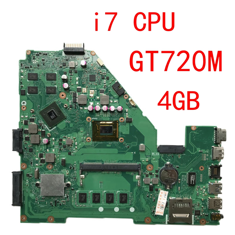 GT720M i7 CPU 4GB RAM X550CC motherboard REV 2.0 For ASUS X550C X552C X550CC X550CL Y581C Laptop motherboard X550CC mainboard