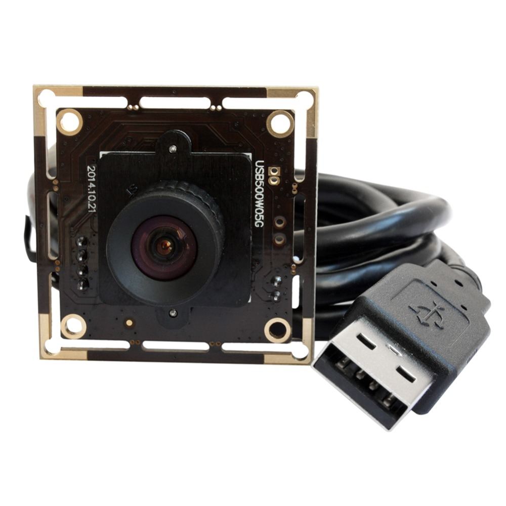 ELP 5mp High Speed Aptina MI5100 HD MJPEG 30fps at 1080P 2.8mm lens mini usb Cmos Camera Module for industrial machines цены