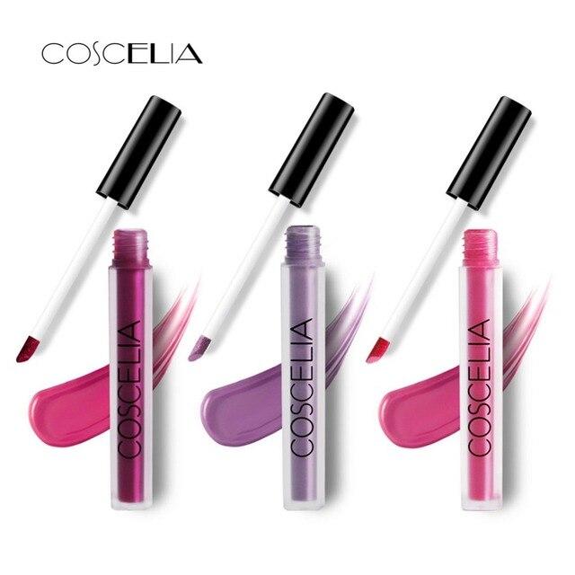 COSCELIA pintalabios mate maquillaje resistente al agua brillo de labios lápiz labial calidad superior brillo de labios de larga duración labios cosméticos Sexy