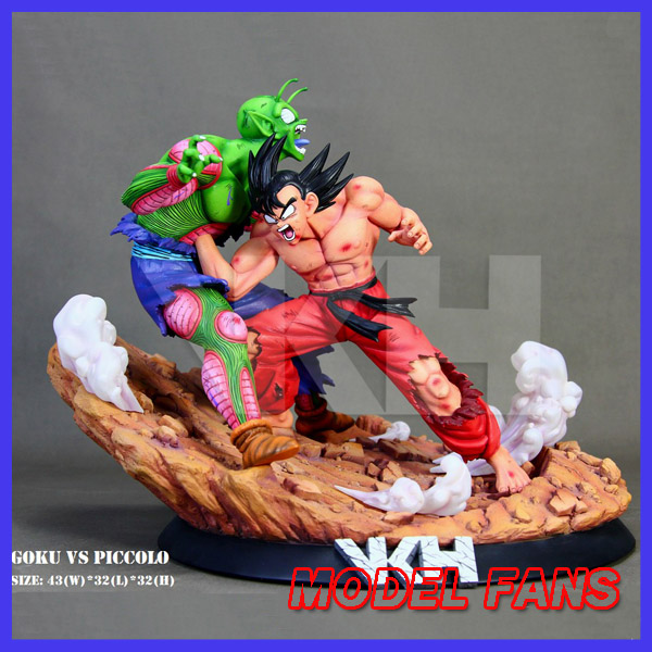 MODEL FANS Dragon Ball vkh 32cm goku vs Piccolo gk resin statue figure toy for Collection
