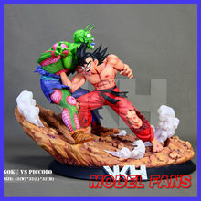 FÃS MODELO vkh 32 cm vs Piccolo goku De Dragon Ball gk resina estátua figura toy para Coleta(China)