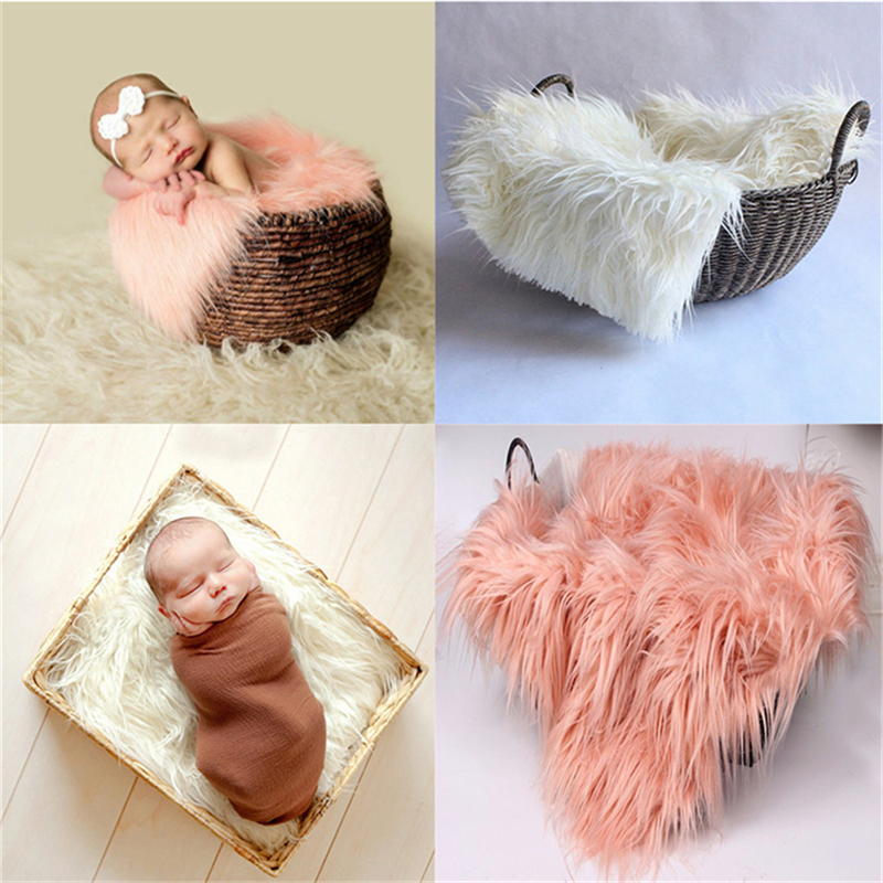50 X 60cm Newborn Baby Infant Fake Fur Rug Blanket