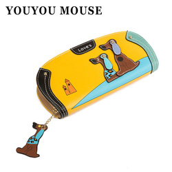 Youyou mouse new fashion cute puppy wallet cartoon dog 6 colors pu leather women wallets ladies.jpg 250x250