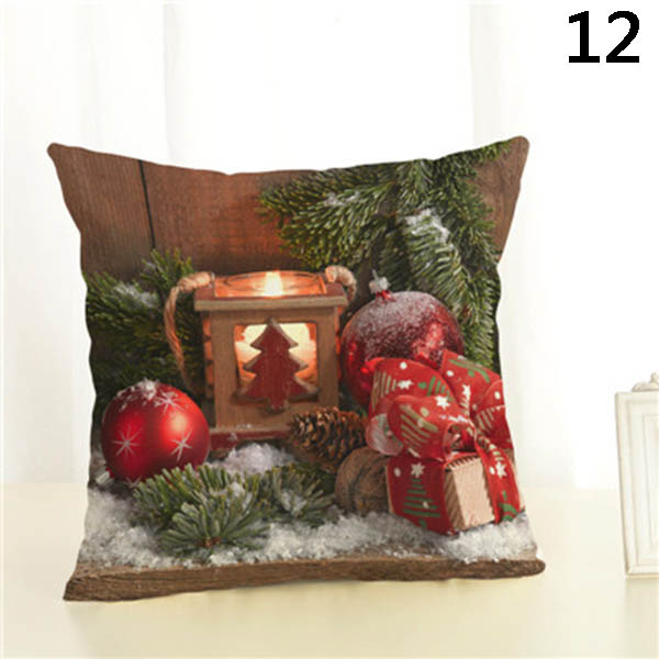 Square Pillow Case Christmas Gift Pattern Pillow Case Christmas Home Decorative 66CY