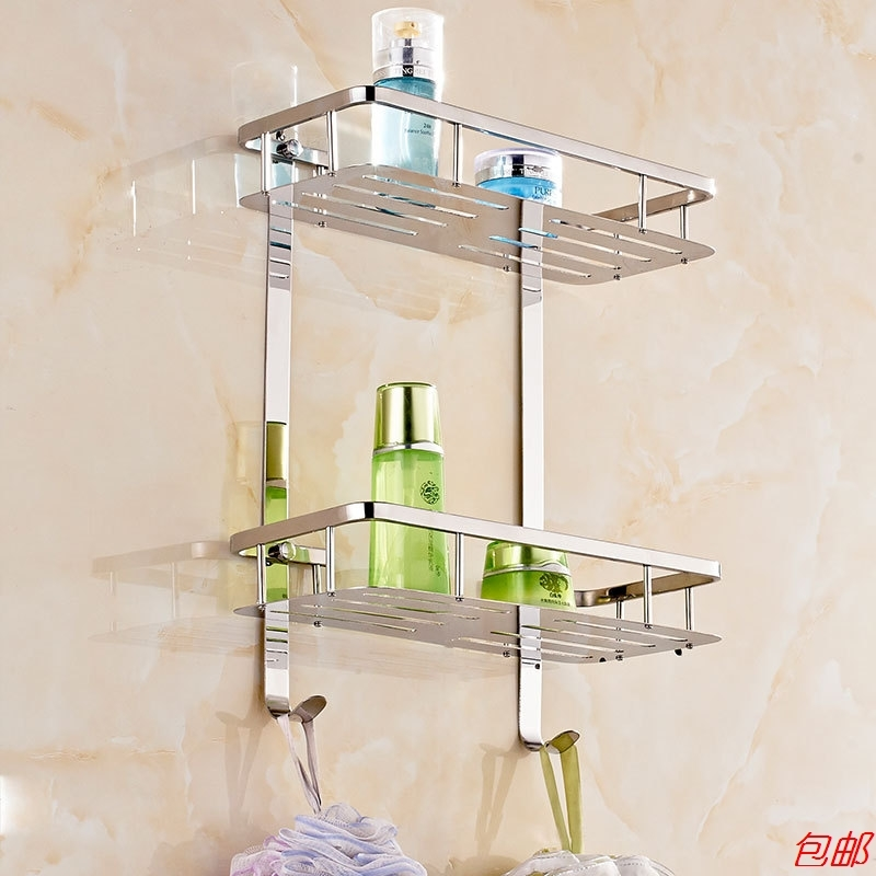 304 Stainless Steel Corner Basket Bathroom Products Luxury Cosmetic Storage Square Corner Basket Bathroom Accessories Ym-0000 304 stainless steel 280 140 500mm bathroom shelf bathroom products bathroom accessories 29016