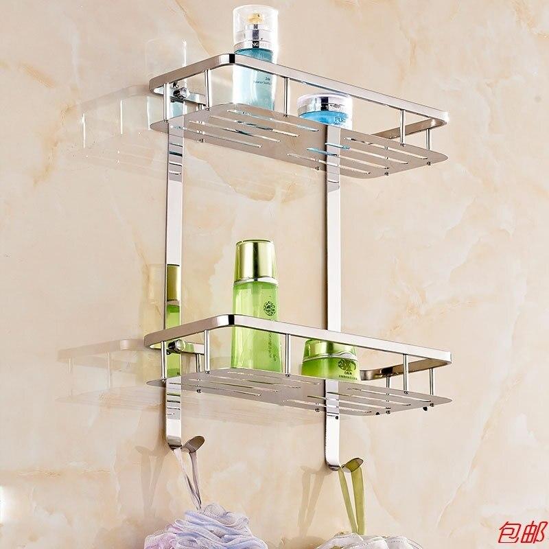 304 Stainless Steel Corner Basket Bathroom Products Luxury Cosmetic