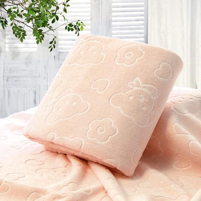 70X140CM микрофибра быстросохнущее полотенце медведь банные полотенца с героем мультфильма хлопок мягкие сухие полотенца кухня чистые впитывающие полотенца цвет