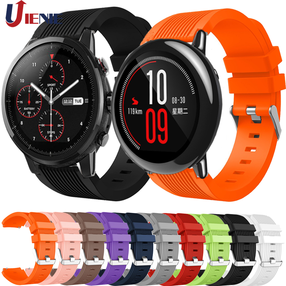 22mm Silicone Watch Band Strap For Xiaomi Huami Amazfit Pace/Amazfit Stratos 2 2S/GTR 47mm Strap Bracelet Sport Wristband Correa