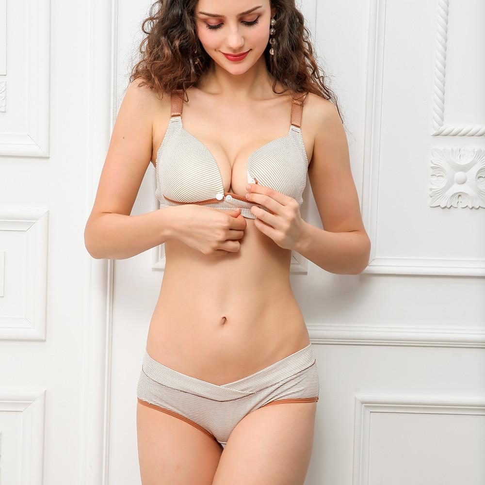 ZTOV Cotton Maternity bra panties set nursing bra for pregnant women Pregnancy Breastfeeding Nursing Bra underwear Clothing in Maternity Nursing Bras from Mother Kids