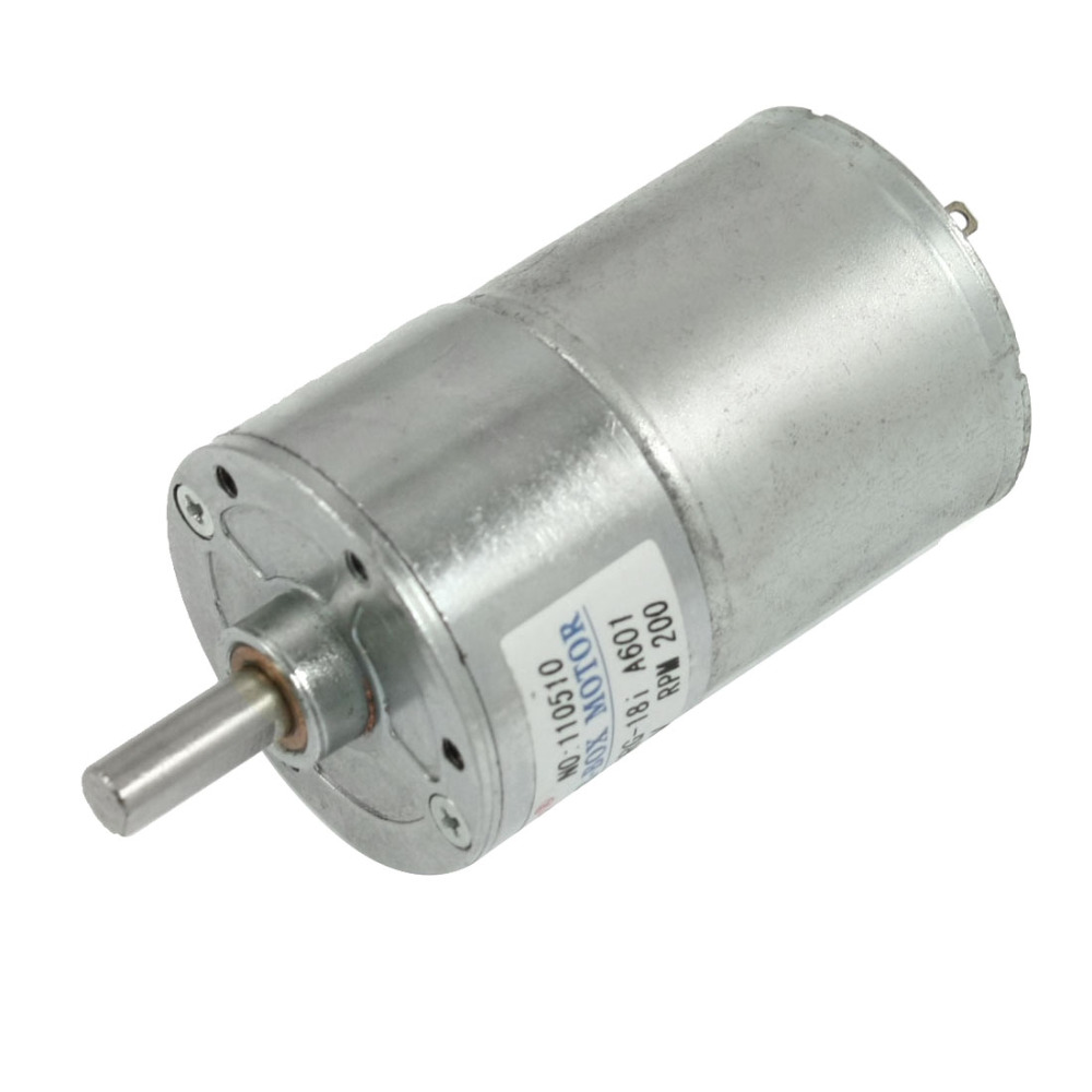 Uxcell Newest 1 Pcs 160mA 200RPM DC 12V 0.7Kg-cm High Torque Permanent Magnetic Gear Motor zndiy bry 200rpm 200ma 40mm 12v dc replacement torque gear box motor silver