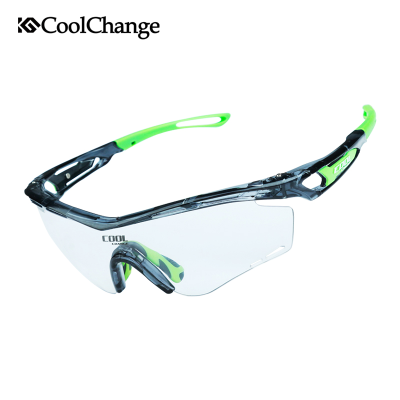 CoolChange Photochromic Polarized Cycling Glasses Bike Eyewear Sports Sunglasses MTB Bicycle Goggles Riding Fishing Myopia Frame obaolay outdoor cycling sunglasses polarized bike glasses 5 lenses mountain bicycle uv400 goggles mtb sports eyewear for unisex