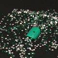 1000 unids/lote 2mm Color Verde Micro Nail Rhinestones Del Arte Del Clavo Mini Decoraciones Del Arte Del Clavo de Manicura Accesorios Z030E