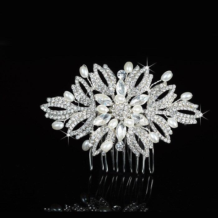 snowflake hair comb hair accessories clip winter headwear hair combs for weddingschina