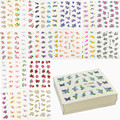 60 Sheets Flowers Designs Water Transfer Nail Sticker, Watermark Nail Stickers Temporary Tattoos Manicure Beauty Tools