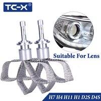 TC X 2 PCS New H7 LED Headlights Copper Braiding Flexible HID Original Bulbs Replacement Super