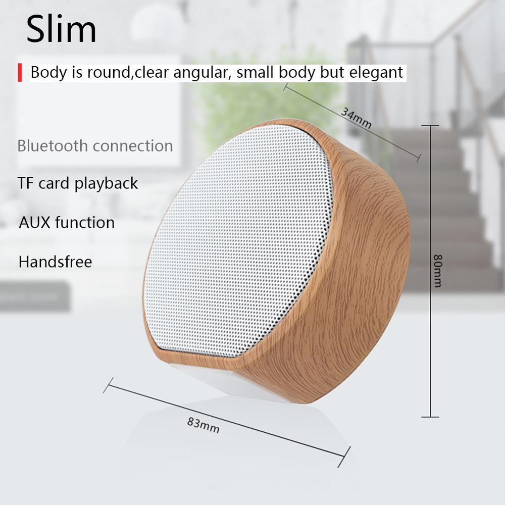 Image 2 - Wood Altavoz Bluetooth Speaker Portable Subwoofer Wireless Mini Bluetooth Sound Box Support AUX TF Card USB for iPhone Android-in Portable Speakers from Consumer Electronics