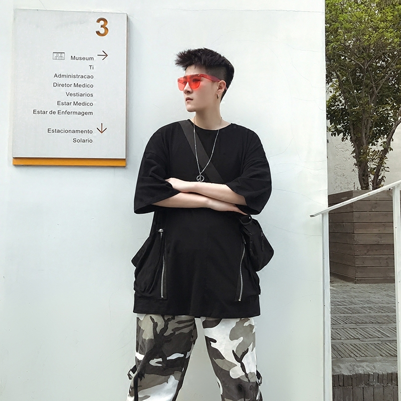 Hip Hop Will Pocket Male Summer Easy Trend T Pity casual black and white The new listing Favourite Fashion Free shipping