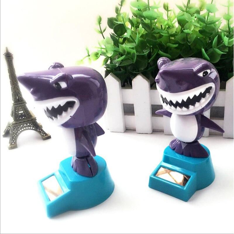 LeadingStar Solar Powered Swing Animal Toys Lovely Novelty Solar Shaking Head Frog Shark Toy Gifts for Children zk25