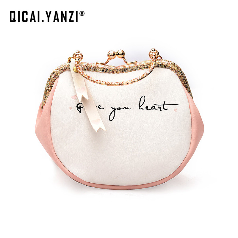 High Quality Ladies Lovely Letter Heart-shape Bolsas Women Small Chain Massenger Shoulder Bags Mujer Clamps Hasp Handbags Z971 high quality shoulder bags designer 2017 handbag ladies small chain shoulder bags women bag bolsas fashion women s handbags