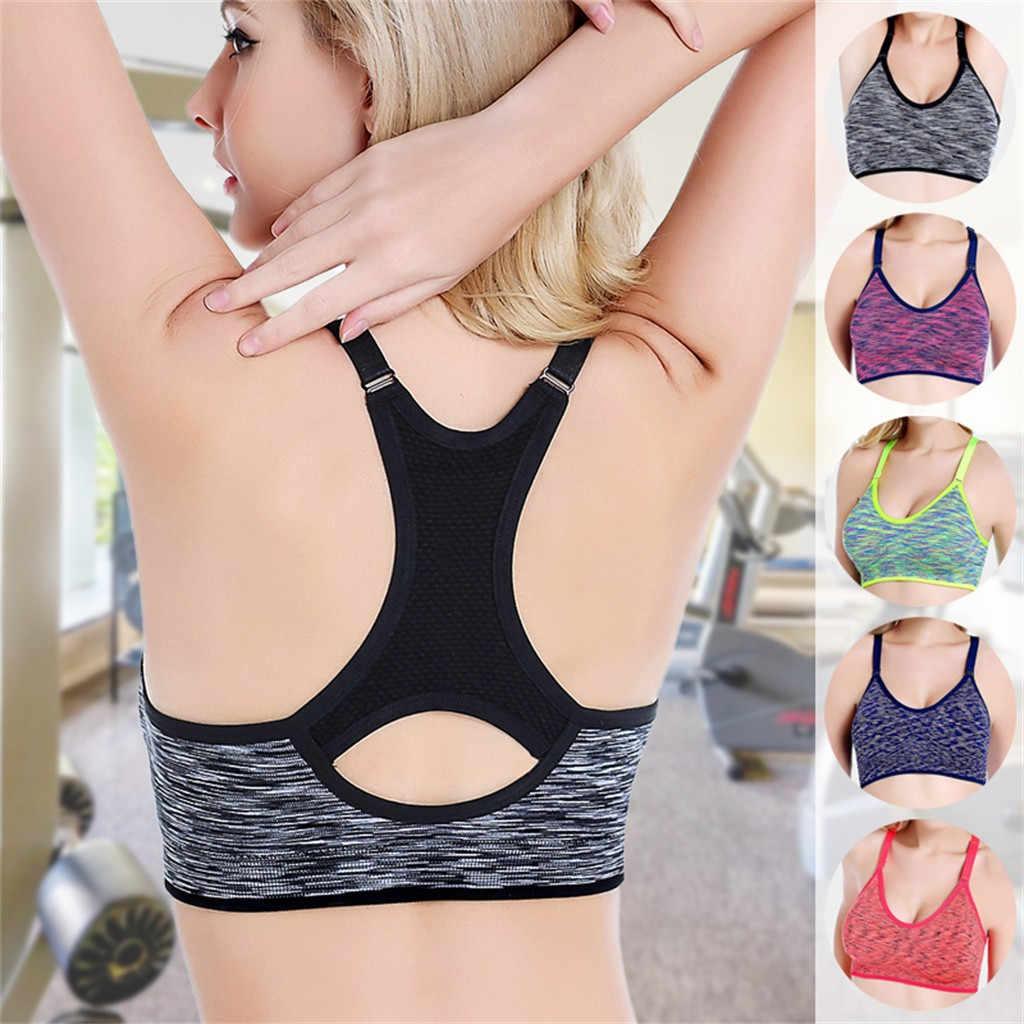 KANCOOLD Sport Cropped Top Bra Push Up Running Yoga Bra Cotton Cross Strap Sport Tops For Women Gym Wear Fitness Bra Sportswear