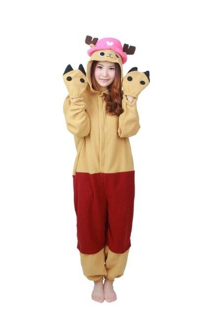 Kigurumi Anime Tony Chopper Onesie Adult Costume Pajamas Cosplay Jumpsuit  Pyjamas Romper Party Dress 51d7e3ad8