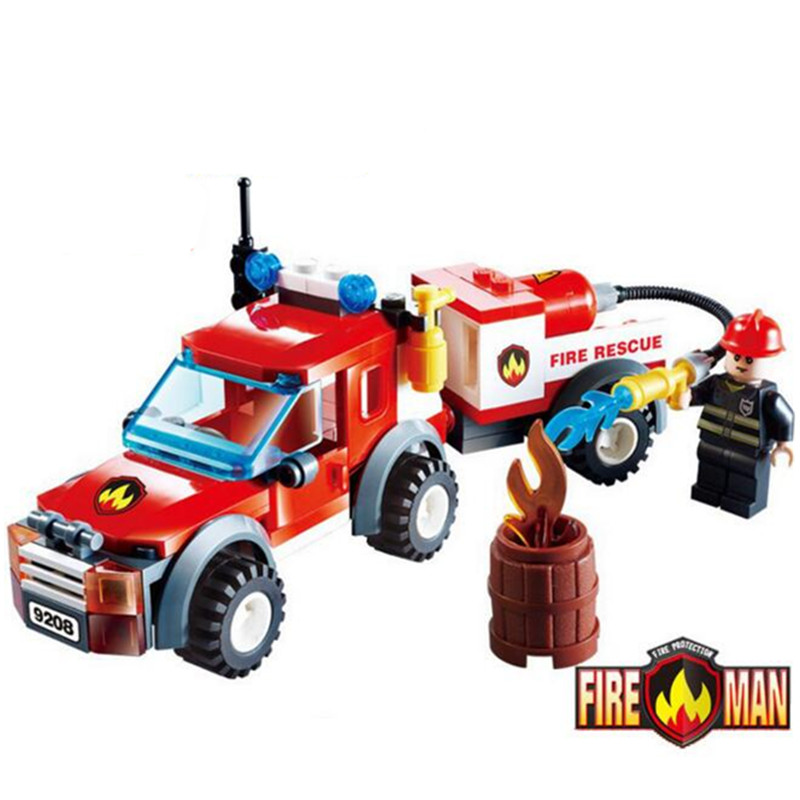 2017 Educational City Fire Rescue Truck Building Bricks Toy DIY Assembled Fire Fighting Fireman Figures Blocks Toys for Children hot sale 1000g dynamic amazing diy educational toys no mess indoor magic play sand children toys mars space sand