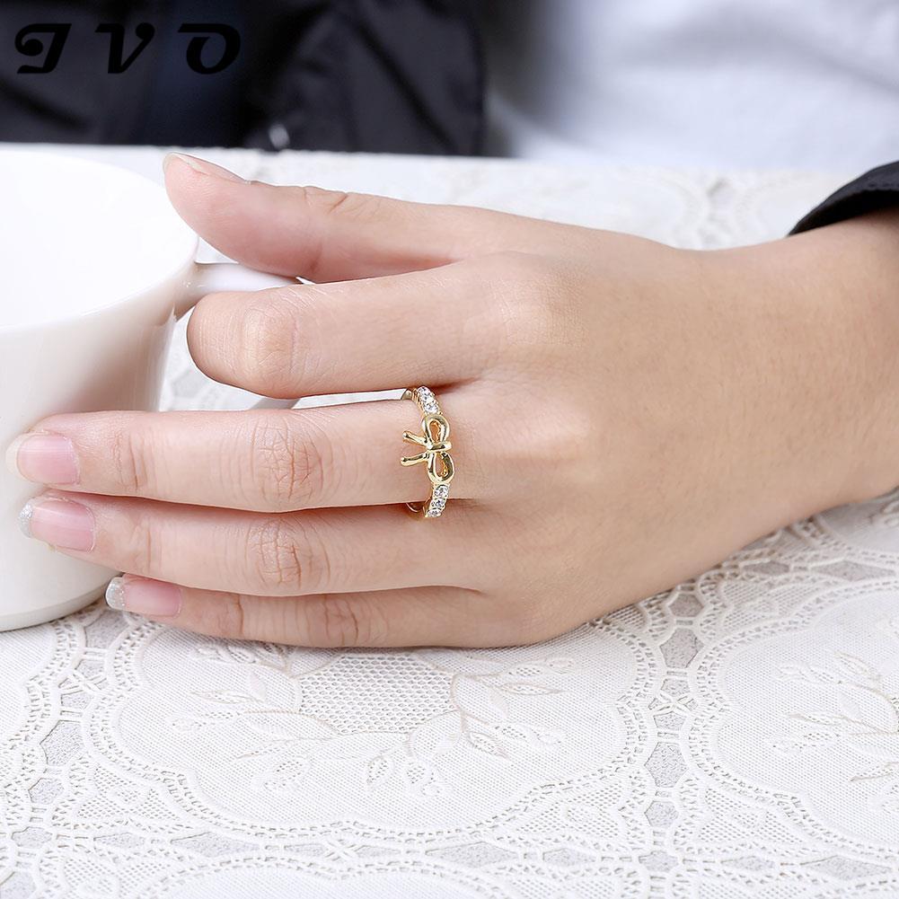 Aliexpress.com : Buy Fashion Style Design Twin CZ Ring Rose Gold ...