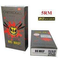 BIGWASP Disposable Gray Cartridge Needle 5 Curved Magnum 5RM 20Pcs Box Supply